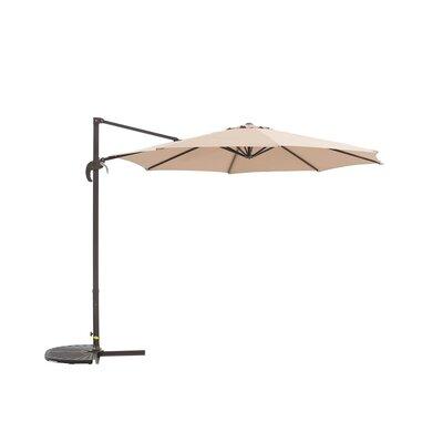 Image of Kulick 9.5' Cantilever Umbrella Fabric Color: Khaki