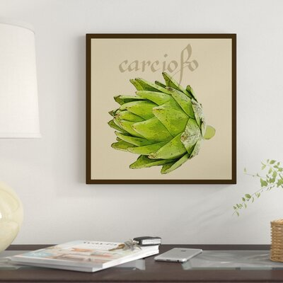 'Italian Vegetable VIII' Graphic Art Print on Wrapped Canvas
