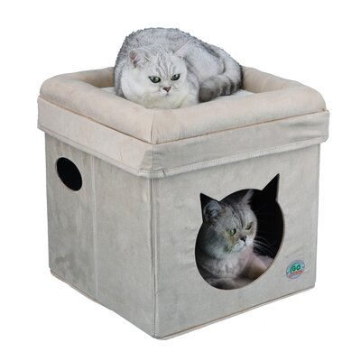 """Image of 16.5"""" Comfy Cube Cat Tree or Condo Color: Beige"""