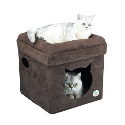 """Image of 16.5"""" Comfy Cube Cat Tree or Condo Color: Brown"""