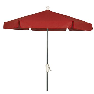 Image of Norval Garden 7.5' Market Umbrella Frame Color: Bright Aluminum, Fabric Color: Red