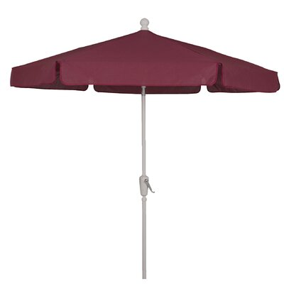 Image of Norval Garden 7.5' Market Umbrella Fabric Color: Beige, Frame Color: Bright Aluminum