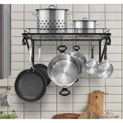 Kitchen Wall Mounted Pot Rack Finish: Black