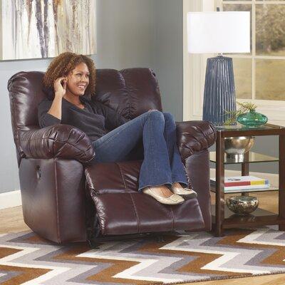 Kennett Rocker Recliner Upholstery: Burgundy, Type: Power