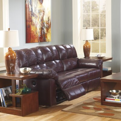 Kennett Reclining Sofa Type: Power, Upholstery: Burgundy
