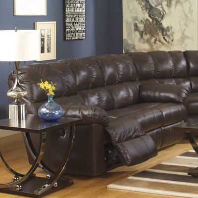 Kennett Reclining Sofa Type: Power, Upholstery: Chocolate