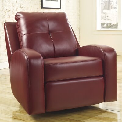 Hellerton Swivel Recliner Upholstery: Red