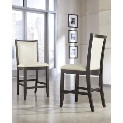 Trishelle Bar Stool (Set of 2) Upholstery: Ivory