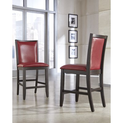 Trishelle Bar Stool Upholstery: Red image