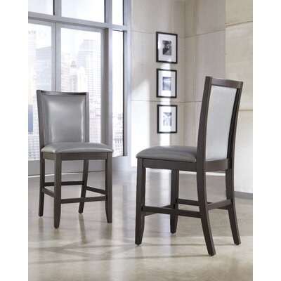 Trishelle Bar Stool Upholstery: Gray