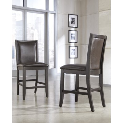 Trishelle Bar Stool (Set of 2) Upholstery: Brown