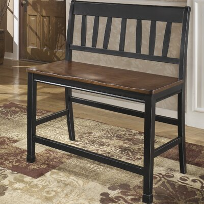 Velma 24 Bar Stool Bench (Set of 2) Finish: Black