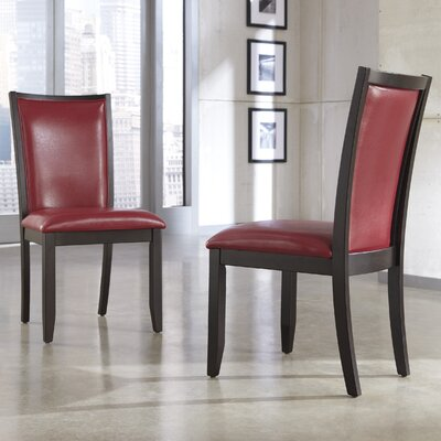 Trishelle Side Chair Upholstery: Red image