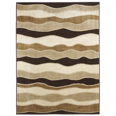 Toffee Striped Area Rug