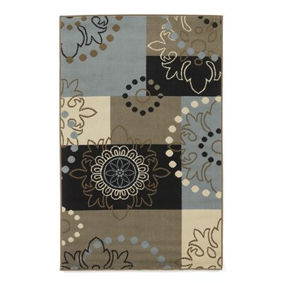 Black/Blue Patchwork Area Rug