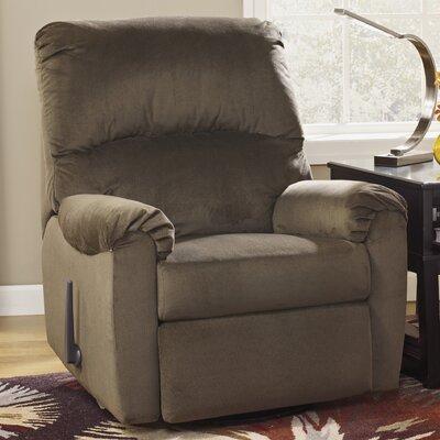 McFarin Swivel Glider Recliner Upholstery: Umber
