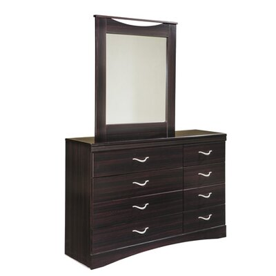 Zanbury 8 Drawer Dresser with Mirror