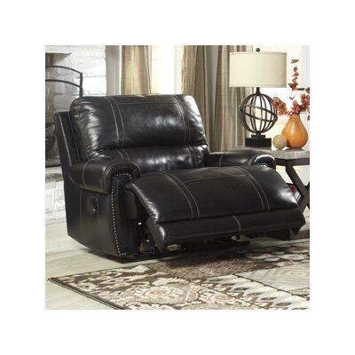 Paron Leather Wall Hugger Recliner Reclining Type: Manual, Upholstery: Brown