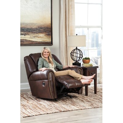 Manzanola Manual Rocker Recliner Upholstery: Brown