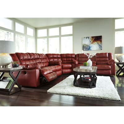 Brolayne DuraBlend Reclining Sofa Recliner Mechanism: Power, Upholstery: Rust