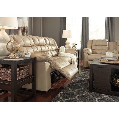 Brolayne DuraBlend Reclining Sofa Recliner Mechanism: Manual, Upholstery: Beige