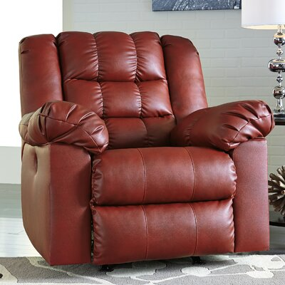 Brolayne DuraBlend Rocker Recliner Reclining Type: Power, Upholstery: Rust