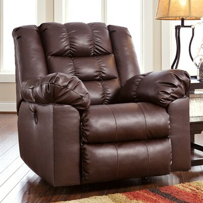 Brolayne DuraBlend Rocker Recliner Reclining Type: Manual, Upholstery: Rust