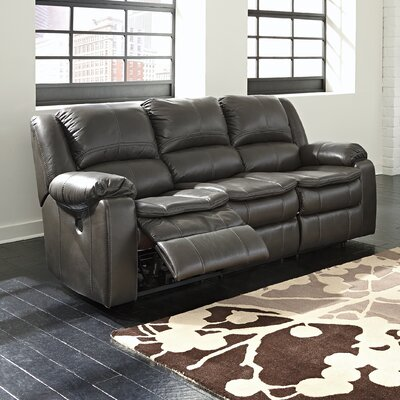 Long Knight Reclining Sofa Type: Power, Upholstery: Grey 8890687