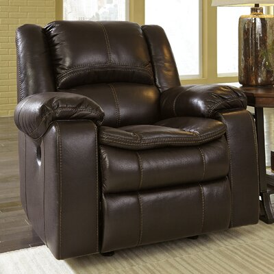 Long Knight Rocker Recliner Upholstery: Brown, Type: Power