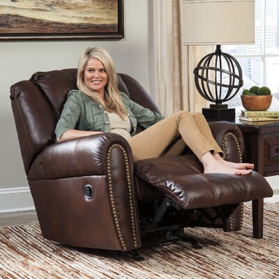 Manzanola Rocker Recliner Upholstery: Brown