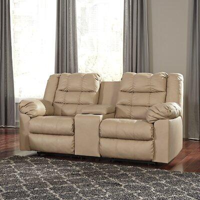 Brolayne DuraBlend Recline Reclining Sofa Recliner Mechanism: Manual, Upholstery: Beige