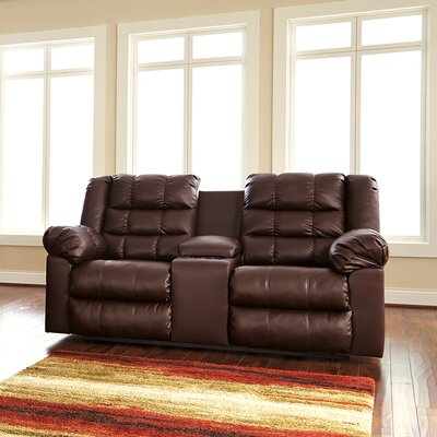 Brolayne DuraBlend Recline Reclining Sofa Type: Manual, Upholstery: Brown