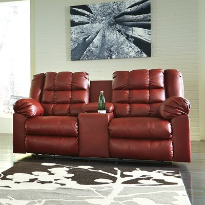 Brolayne DuraBlend Recline Reclining Sofa Recliner Mechanism: Manual, Upholstery: Rust