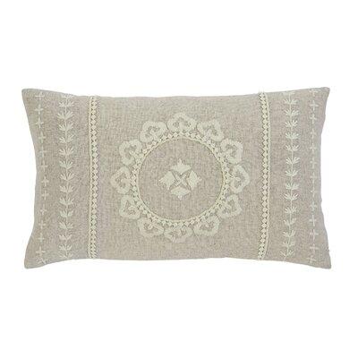 Embroidered Lumbar Pillow