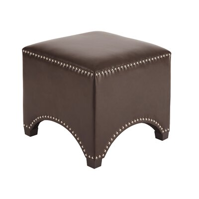 Flemish Ottoman Upholstery: Chocolate
