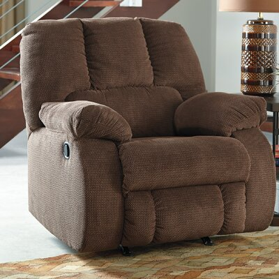 Roan Manual Rocker Recliner Upholstery: Cocoa