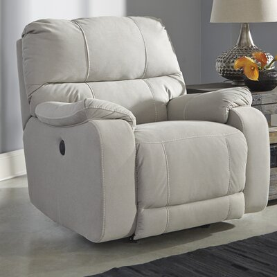 Bohannon Power Rocker Recliner Upholstery: Putty