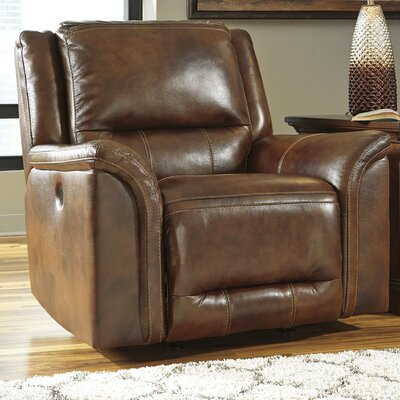 Jayron Leather Rocker Recliner Reclining Type: Manual