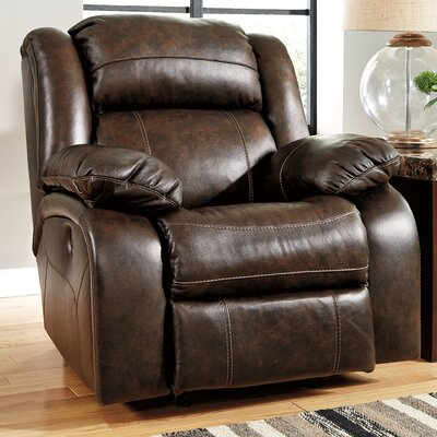 Branton Leather Rocker Recliner Reclining Type: Manual, Upholstery: Quarry