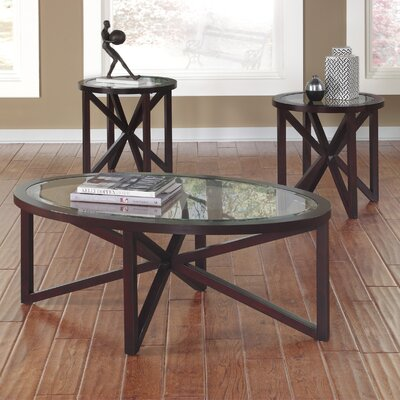 Sleffine 3 Piece Coffee Table Set