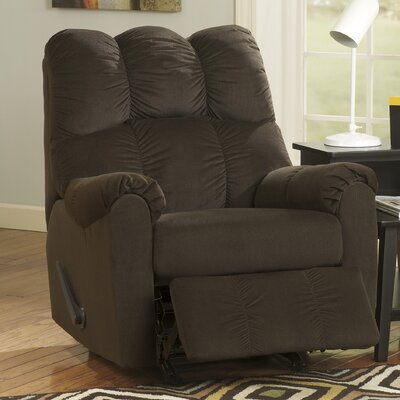 Corsica Manual Rocker Recliner Upholstery: Chocolate