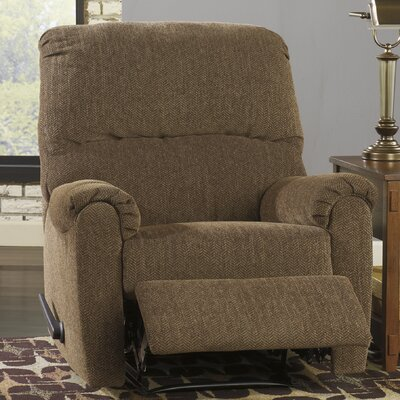 Delmont Manual Recliner Upholstery: Walnut