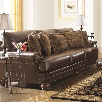 9920038 GNT3127 Signature Design by Ashley Leighton Leather Sofa