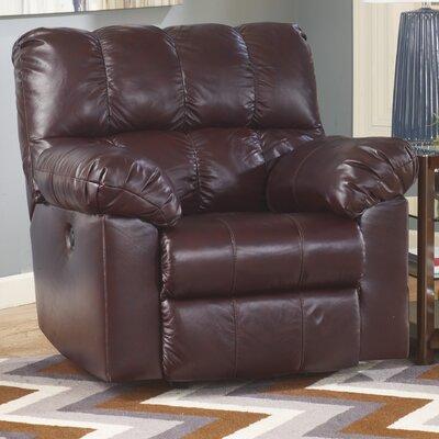Kennett Rocker Recliner Type: Manual, Upholstery: Burgundy