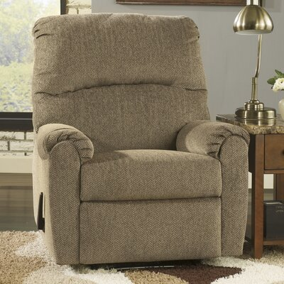 Delmont Manual Recliner Upholstery: Cork