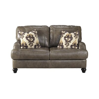 Signature Design by Ashley 8040235 Kannerdy Leather Loveseat