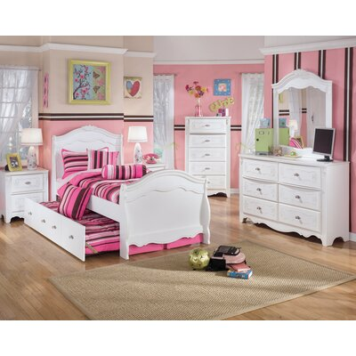buy low price signature design by ashley lydia sleigh bedroom set in white bedroom set mart. Black Bedroom Furniture Sets. Home Design Ideas