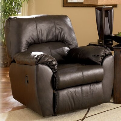 Buy low price signature design by ashley nada leather for Ashley reclining chaise