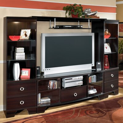 Cheap Signature Design by Ashley Signature Design by Ashley Bellaire Entertainment Center in Merlot (GNT1649)