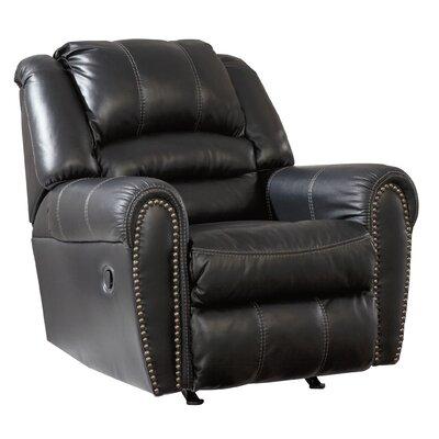 Manzanola Manual Rocker Recliner Upholstery: Black